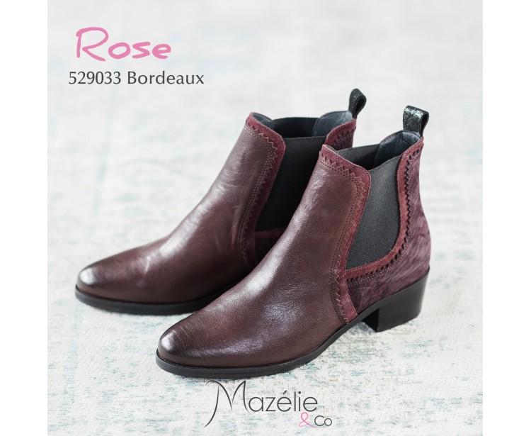 Boots Rose Bordeaux
