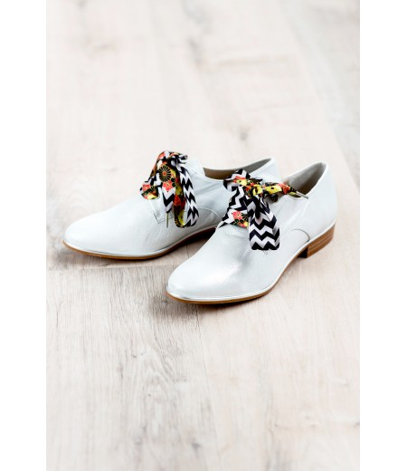 PE // Derbies Celly Blanc Irisé