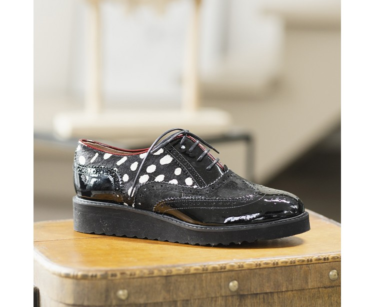 Derbies Lily Animal Noires