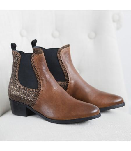 Boots Rose Cognac