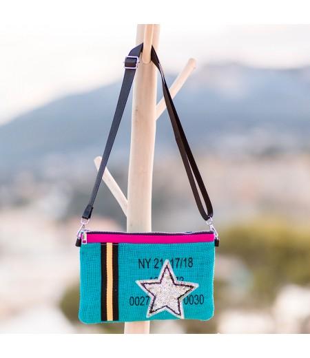 Pochette Star Turquoise